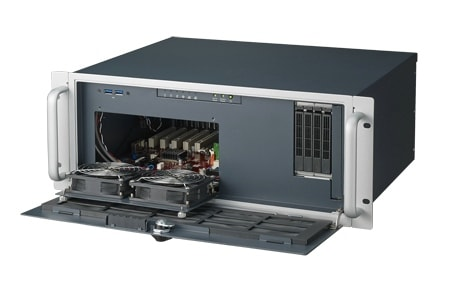 "ACP-4020MB-00XE - 19"" Rack IPC Gehäuse 4HE-Chassis mit nur 348mm-Tiefe für Mainboards"