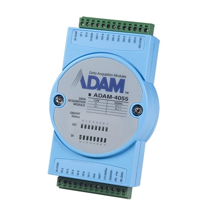 ADAM-4055-BE (+Modbus) RS485 Remote-I/O-Modul 8/8-Kanal-Digital-E/A-Modul für RS485-Feldbus