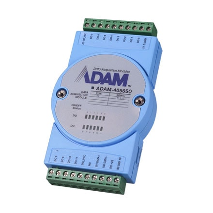 ADAM-4056SO-AE (+Modbus) RS485 Remote-I/O-Modul 12-Kanal-Digital-Ausgangs(Source)-Modul für RS485
