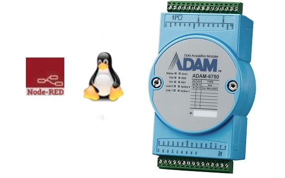 ADAM-6750-A - Digital-I/O Edge-Gateway mit 12/12-Digital-IO-Kanälen (30VDC), 2xLAN