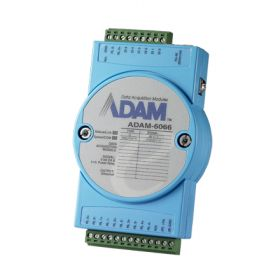 ADAM-6066-CE Ethernet Remote-I/O-Modul 6 Kanal Digital Eingangs & 6 Power-Relais-Modul
