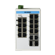 EKI-5626CI-AE - Unmanaged Proview Switch mit 16x FE-RJ45 + 2xGb-Combo-RJ45/SFP Ports