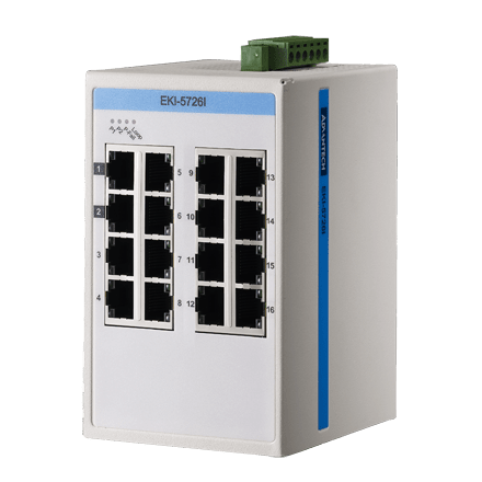 EKI-5726I-AE - Unmanaged ProView/SCADA Switch Gb-Ethernet-Switch mit 16 Ports & SNMP-Support