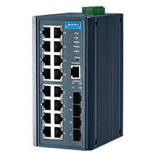 EKI-7720G-4F-AE - Managed Industrie Switch mit 16xGb- & 4x Gb-Cu/SFP-Combo LAN Ports