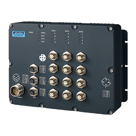 EKI-9512-CFIDW10E - Managed Switch mit EN50155