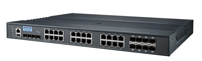 EKI-9728G-4X8CI-AE - Managed L3 Switch Layer3 Switch mit 4x 10GbE, 16 GE, 8GE Combo Ports
