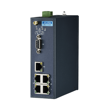 EKI-1334-AE - HSPA+ IP Router 1x RS232 & 4x LAN auf HSPA+ IP Router