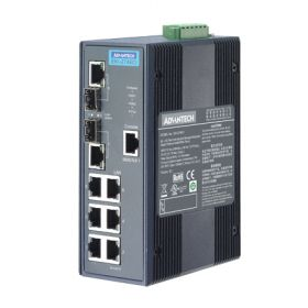 EKI-2748CI-AE - Managed Switch mit 6xGb- & 2xSC-LWL-LAN-Ports für erw. Temp.ber.