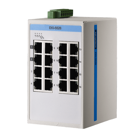 EKI-5526I-AE - ProView/SCADA Switch 10/100-Ethernet-Switch mit 16 Ports & SNMP-Support