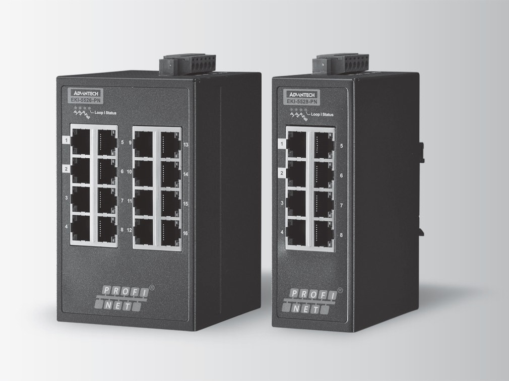 EKI-5526-PN-AE - Managed Feldbus Switch 10/100-Switch mit 16 Ports & PROFINET-Support
