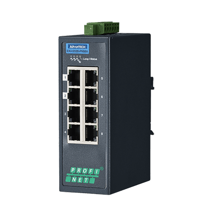 EKI-5528-PNMA-AE - Managed Feldbus Switch 10/100-Switch mit 8 Ports & PROFINET-MRP-Support