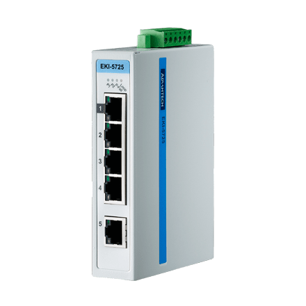 EKI-5725I-AE - Unmanaged ProView/SCADA Switch Gb-Ethernet-Switch mit 5 Ports & SNMP-Support