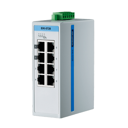 EKI-5728I-AE - Unmanaged ProView/SCADA Switch Gb-Ethernet-Switch mit 8 Ports & SNMP-Support