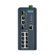 EKI-7710E-2C-AE - Managed Industrie Switch mit 8x 10/100- & 2x Gb-Cu/SFP-Combo LAN Ports