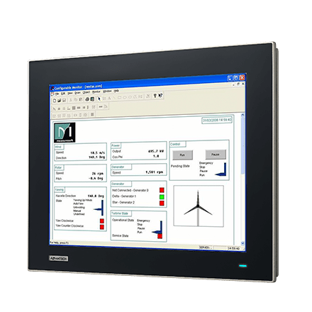 "FPM-7151T-R3AE - Tru-Flat Industrie Display 15"" Monitor mit resistiven Touch, VGA/DP & IP66"