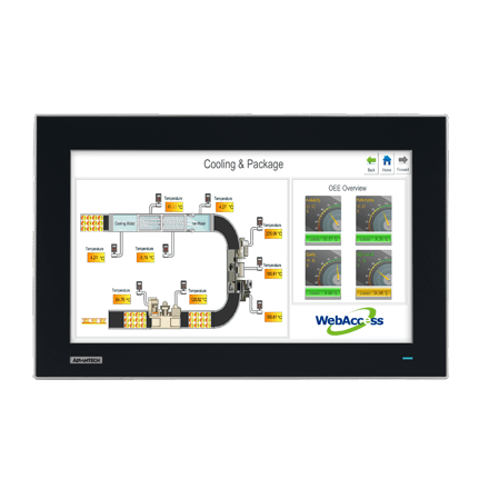 "FPM-7151W-P3AE - Widescreen Industrie Display 15,6"" Monitor mit kapazitiven Touch, VGA/DVI, IP66"
