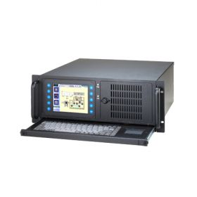 "IPPC-4001D-G2AE - All-in-One Rack-IPC-Gehäuse 4HE-IPC-Chassis mit 5,7""-Display,14-Slots,Tastatur"