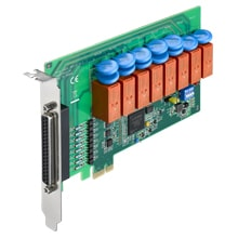 PCIe-1761H-AE - Digital- & Relaiskarte mit isol. 8 Digital-IN &  8 Relais-Out f. PCIe-Bus