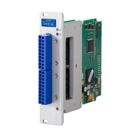 Q.raxx 3HE D101 - Remote Datenerfassungsmodul 8-In-/8Out-Digital-I/O-Modul