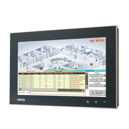 "TPC-1581WP-433AE - Widescreen Touch Panel IPC mit 15,6""-Display, i3-CPU, 4GBRAM, iDoor"