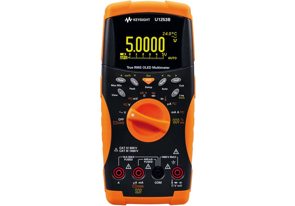 Handmultimeter U1253B Orange Line 4,5-stelliges Handmultimeter (0,025% VDC Genauig.)