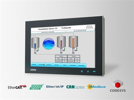 "WA-CT1881W-3RHE5AE - CODESYS Panel Starter-Kit mit 18.5"" WXGA-Touch IPC &  CODESYS Runtime Softw."